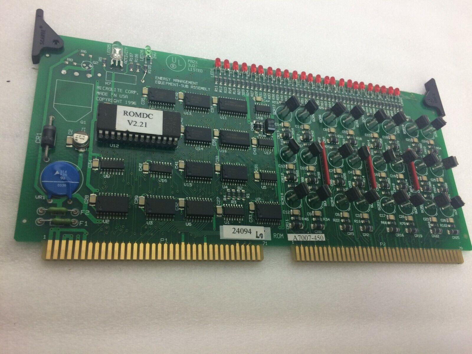 Microlite ROM DC Card v2.21 A7007-450