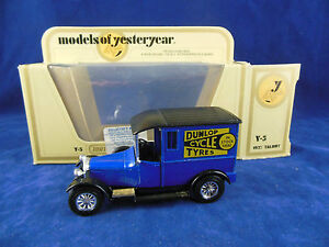 Scarce-Matchbox-Yesteryear-Code-2-Y5-1927-Talbot-Dunlop-Cycle-Tyres