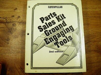 Cat Caterpillar Parts Sales Kit Ground Engaging Tools Catalog 1995 2nd Edition