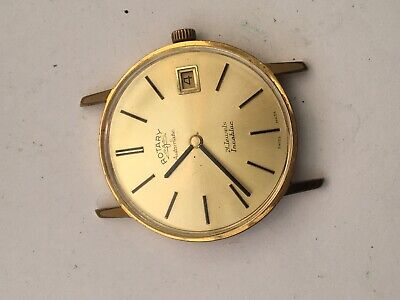 Vintage Rotary Automatic Watch 21 Jewels Incabloc Working Gold Plate West Germ