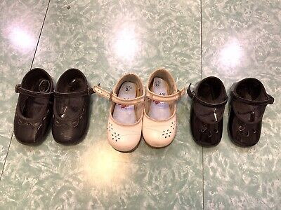 Lot of 3 Pairs - Vintage Mary Jane Childs Doll Shoes