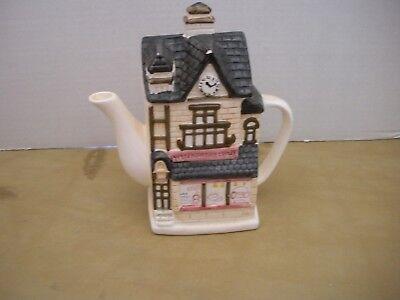 "Vintage- Ceramic Teapot Store Front Shape (Carpet & Furniture) 8"""