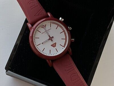Armani HYBRID SMARTWATCH WITH EMOTICON-ACCENTED DIAL Mens Red (Only Worn Once)