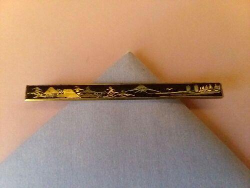 "Vintage Japanese Damasene Brooch/Pin 1900s Original Factory Komai ""C""Closure"