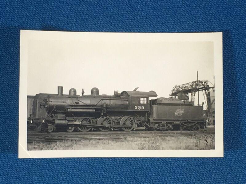 Chicago & North Western Railway Train Engine Locomotive No. 339 Antique Photo