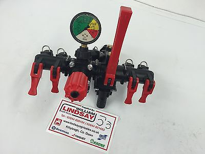 Ar 4 Bank Lever Crop Sprayer Pressure Control Valve Unit Cw Main On-off Lever