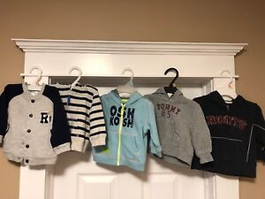 Brand sweaters and hoodies sizes 6, 9, 12 mnths Boys