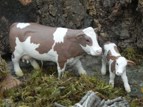 Schleich Cow Calf Figurine Nativity Scene Animals Farm Pesebre Vaca Presepio