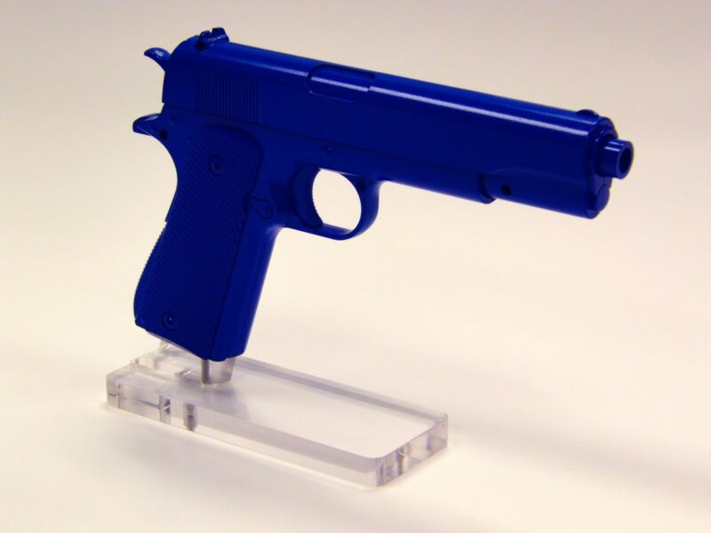 1911 Pistol Display Stand 45 ACP Acrylic Gun Rack - Perfect for Gunshop Showcase