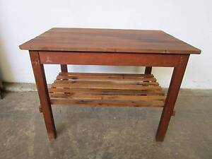 D2075 Terrific Rustic Timber Workbench Kitchen Island Table Unley Unley Area Preview