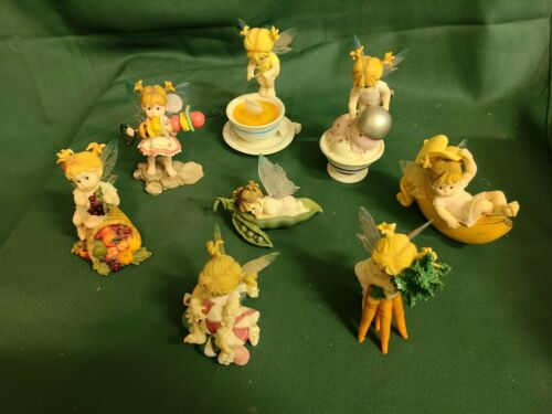 The Little Kitchen Fairies Set Of 8 Figurines 2001-2005  GSCC