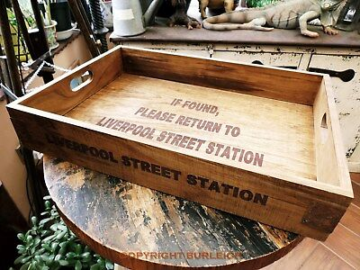 LIVERPOOL STREET STATION SERVING TRAY, Large, Vintage Antique Style Railwayana