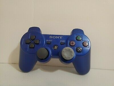 PS3 Official Sony Blue Wireless Dualshock 3 Sixaxis Controller Same Day Shipping