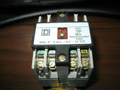 Square D 8501 X0 00 4 Pole Relay with 120V Coil