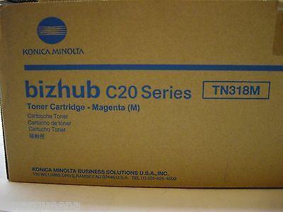 NEW ! Genuine Konica Minolta Bizhub C20 Magenta Toner Cartridge A0DK333 TN318M