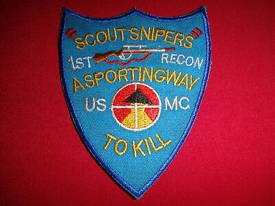 Peacekeeping Mission PATCH Terrorist in Sniper Crosshairs 1982-84 USMC Beirut
