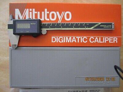 Mitutoyo 500-491 Digital Calipers Solar Powered Inchmetric 0-6