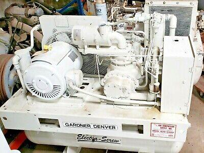 Gardner Denver Electra-screw Eberg-f 30hp Rotary Air Compressor 46558 Hrs