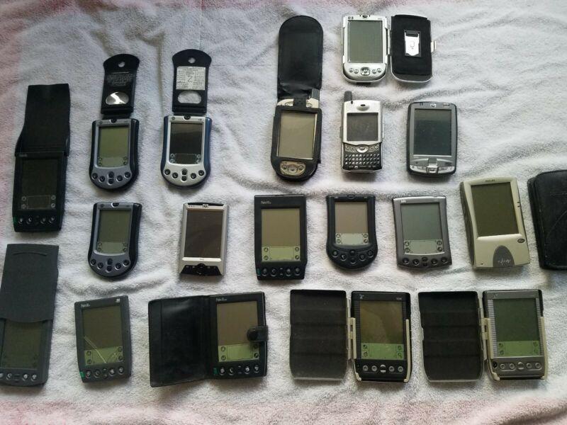 Huge Lot Of Palm Pilots etc