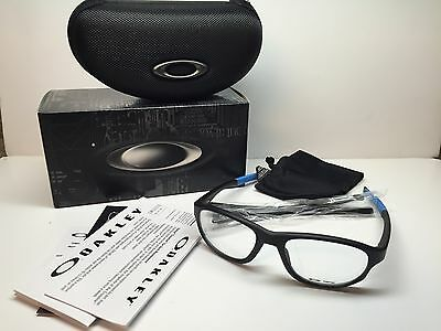 NIB Oakley Crosslink Strike Satin Black Frames Rx Eyeglasses OX8048-0154 W/Case
