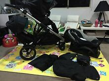 Steelcraft Strider Pram with second seat and capsule for car Happy Valley Morphett Vale Area Preview