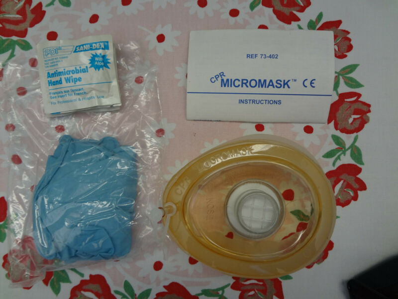 Mdi 73-402 Cpr Micromask Mouth To Mask Resuscitation New Sealed One-way Valve