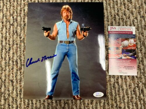 Chuck Norris Invasion USA Autographed 8x10 Photo JSA Witness