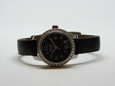 Fossil ES-2249 Genuine Leather Quartz Analog Ladies Watch
