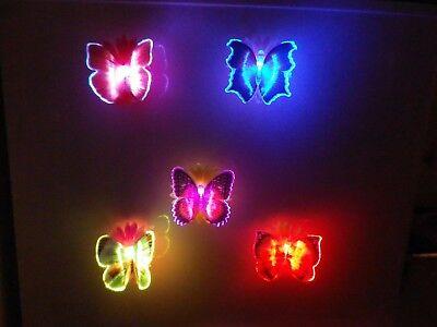Leuchtenden Fläche (Schmetterlinge Leuchtend Magnet Deko Licht Fläche Metallisch Kind Zimmer Deko)