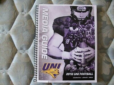 2016 Uni Panthers Football Media Guide Yearbook Northern Iowa Program College Ad