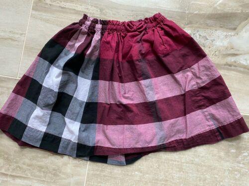 BURBERRY Girls Plum Pink Nova Check Plaid Skirt Size 7Y - Mint Condition