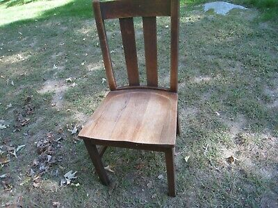 2 antique mission style solid oak chairs  F.T.Birdsall Furniture Naugatuck  Conn 2 Mission Style Chairs