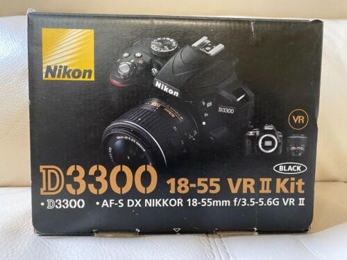 New Nikon D3300 24.2MP Digital SLR Camera - Black (Kit w/ AF-S DX VR II 18-55mm