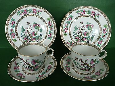 John Maddock & Sons - Indian Tree - 2 Trio's: Cup, Saucer & Side Plates