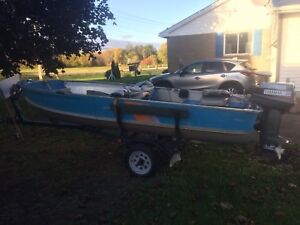14 foot aluminum boat with 20hp Yamaha electric start