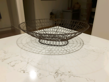 Large wire fruit bowl