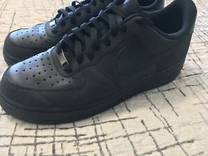 Nike Air Force Ones black with textured accents