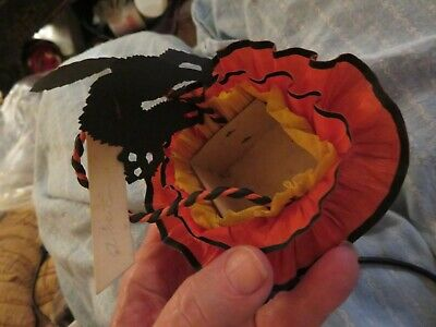 Candy or nut cup, crepe paper, Reed Co. Williamsport PA, Black Kittie name tag ](Halloween Name Tags)