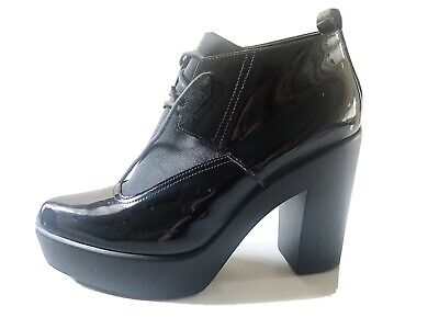Jeannot Chelsea Ankle Boots - Patent Leather - Black, Size 40