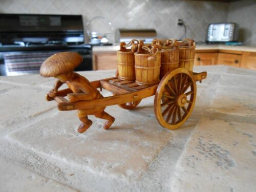 ASIAN Honey Pot Wagon Antique  Excellent