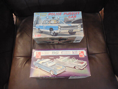 Jo-Han Plymouth Fury Police Pursuit Car  1961 Continental Conv Box