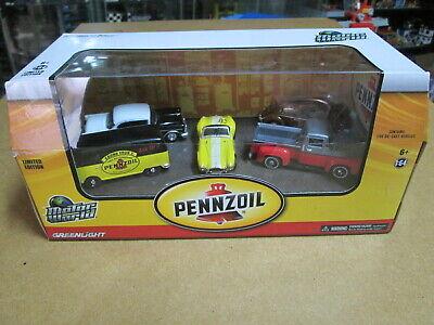 Greenlight Motor World Volkswagen Pennzoil 5 Pack Diorama 1/64 VW Ford Shelby