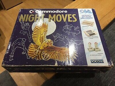 Commodore 64C Box #2 - Night Moves / Mindbenders Pack Box Only - Good Condition