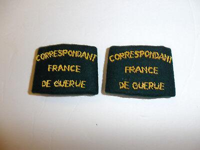 c0305p WW 2 Correspondant France DeGuerue Correspondent slip on straps pair R10E