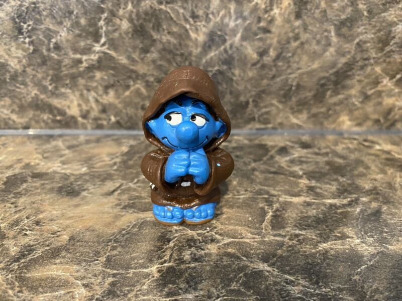 Smurfs 20431 Monk Smurf Praying Rare Vintage Figure Schleich Toy PVC Figurine