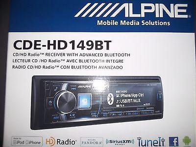 ALPINE CDE-HD149BT AM/FM RECEIVER CD MP3 BLUETOOTH & HD RADIO TUNER
