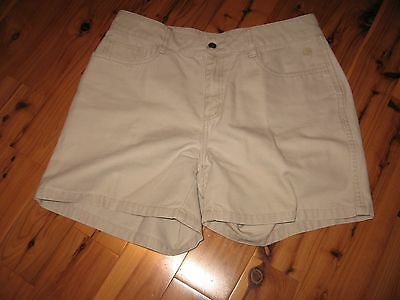 WOMENS 8 THE NORTH FACE A5 SERIES COTTON OUTDOORS CASUAL SHORTS SAND KHAKI