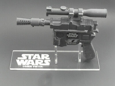 Han Solo Blaster (1 x Acrylic STAND Star Wars Vintage Han Solo Laser Pistol/Blaster - Left Facing)