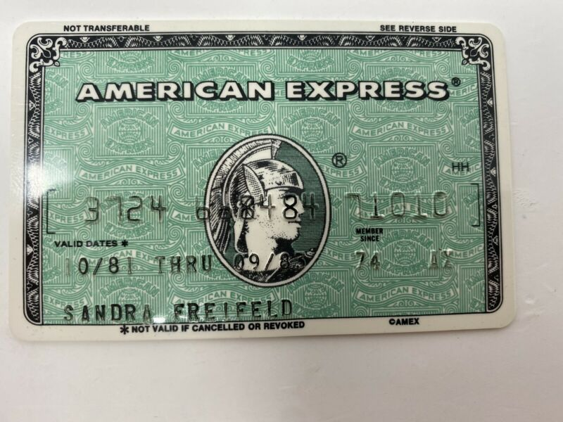 Vintage American Express Credit Card Expired 1983 (B)