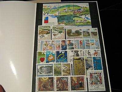 Briefmarken: - Fürstentum Liechtenstein – Komplette Jahresausgabe 1999